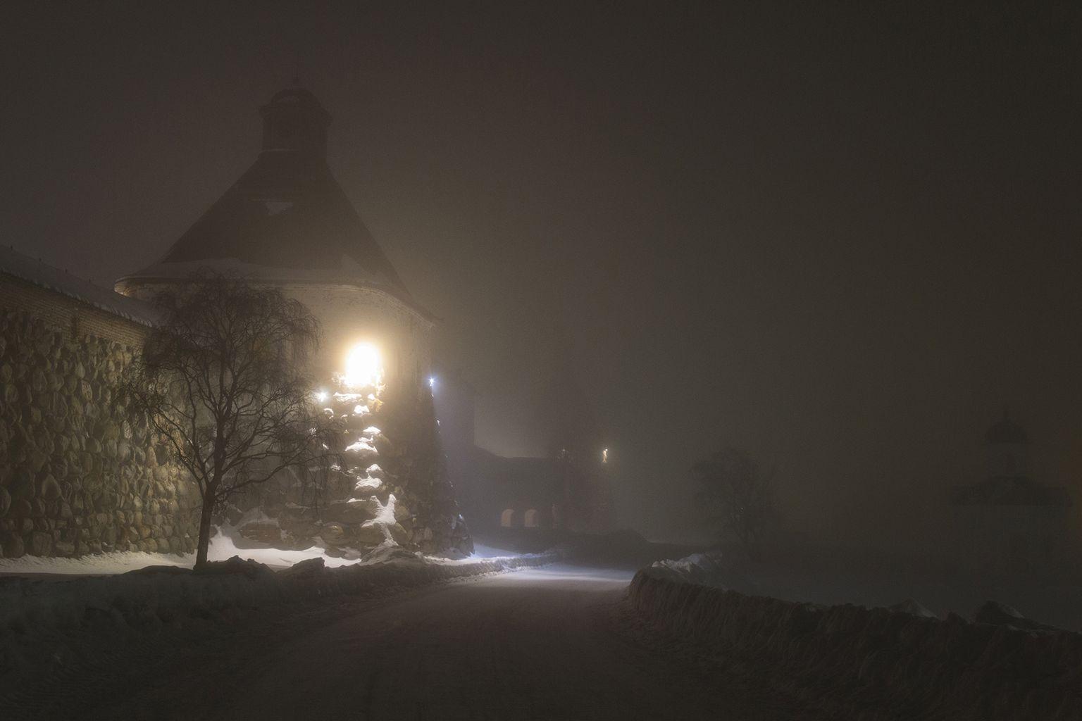 В туманную ночь