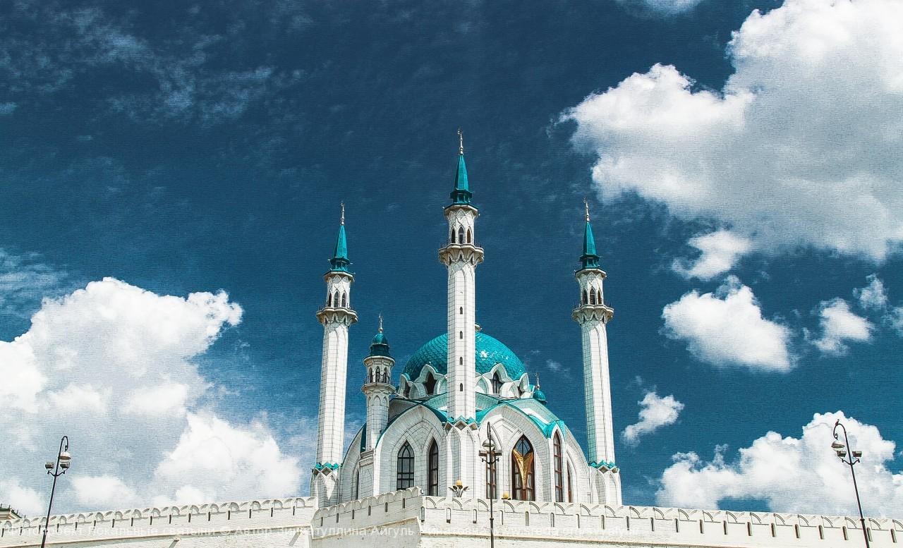 Мечеть Кул Шариф в облаках