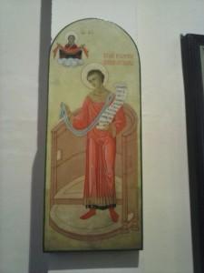 5. Икона св. Романа Сладкопевца на клиросе Екатерининского храма