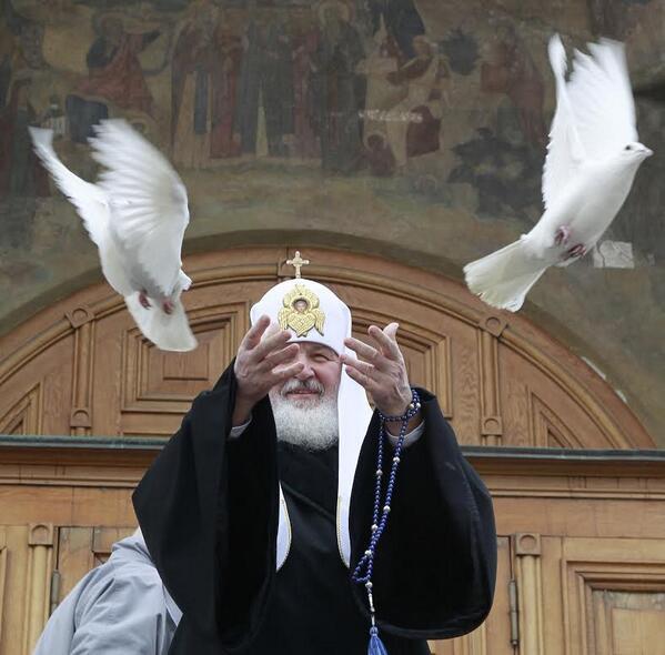 Благорвещение 2014: Патриарх Кирилл выпустит в небо белых голубей SREDA.ORG