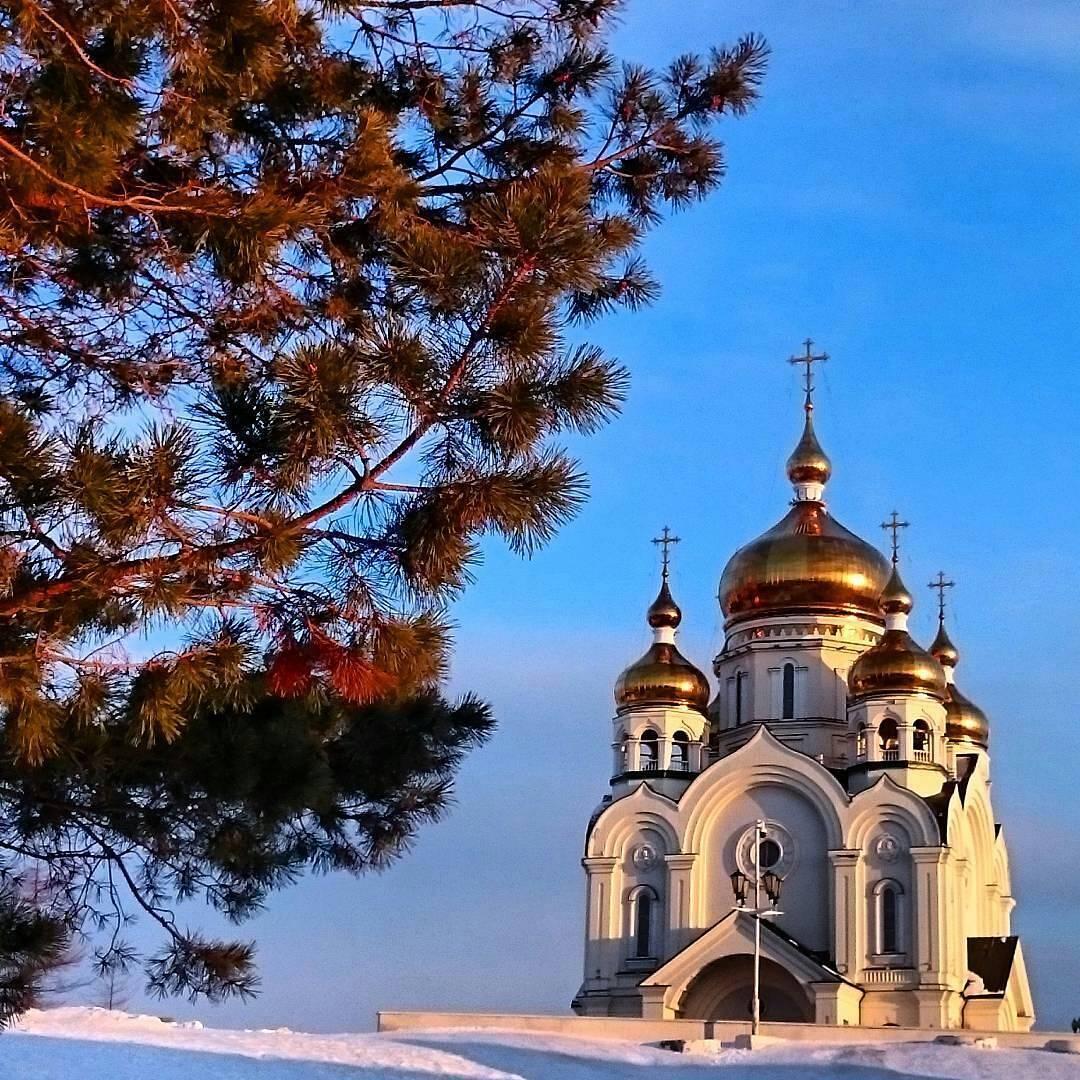 Спасо-Преображенский кафедральный собор, г.Хабаровск Автор фотографии: @yuliya_savkina_ #закат #храмы_зр