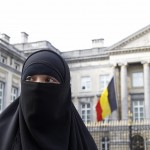 Salma, French national living in Belgium who chooses to wear niqab after converting to Islam, gives interview to Reuters in Brussels